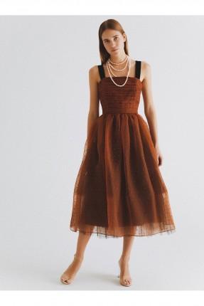 فستان رسمي دانتيل منقط