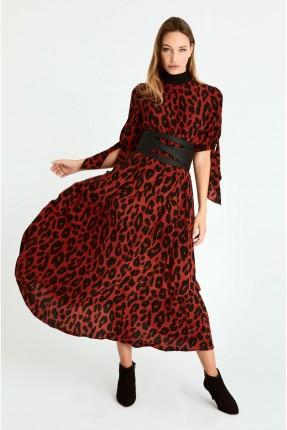 فستان سبور طويل بطبعة تايغر