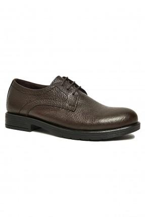 حذاء رجالي جلد شيك برباط