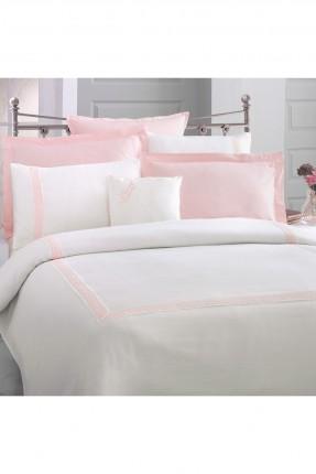 طقم غطاء سرير مزدوج بخط مزخرف