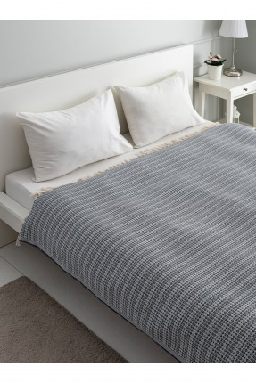 بطانية سرير مزدوج مزين بشراشيب
