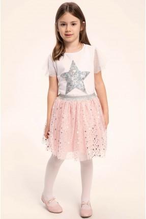 تنورة اطفال بناتي منقطة بالنجوم