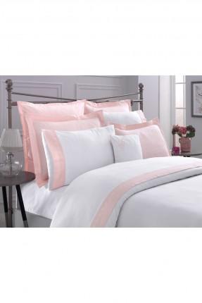 طقم غطاء سرير مزدوج بخط مورد