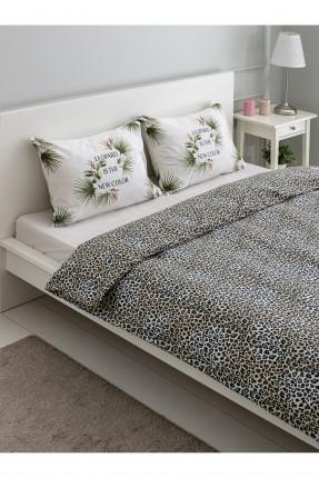 طقم غطاء سرير مزدوج بطبعة تايغر