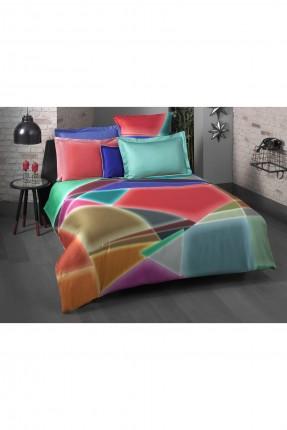 طقم غطاء سرير فردي ملون