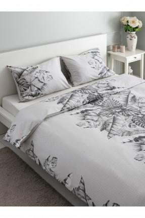 طقم غطاء سرير مزدوج مزين برسومات