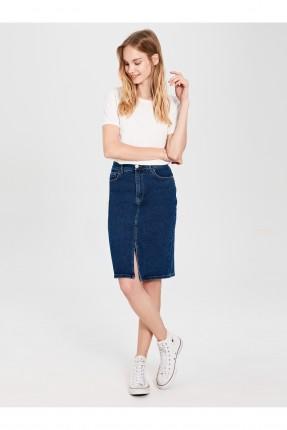 تنورة قصيرة جينز بفتحة امامية