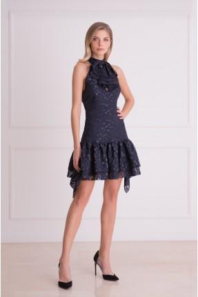 فستان رسمي شيك قصير منقط
