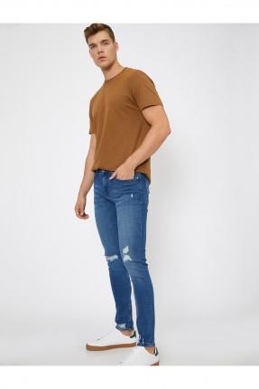 بنطال رجالي جينز بشقوق