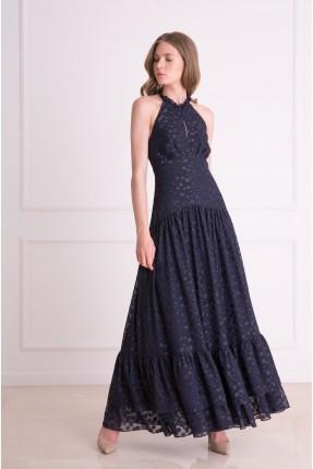 فستان رسمي شيك طويل منقط