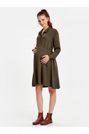 فستان سبور حمل بياقة ازرار