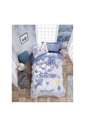 طقم لحاف سرير اطفال مزين بكتابات