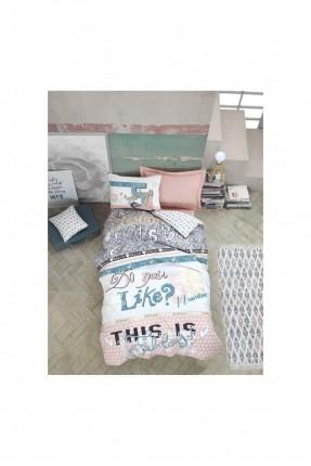 طقم غطاء سرير اطفال مزين بكتابات