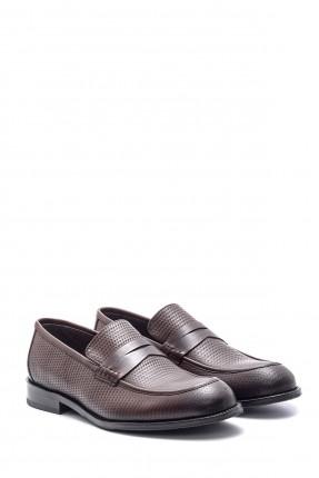 حذاء رجالي جلد كلاسيكي بدون رباط