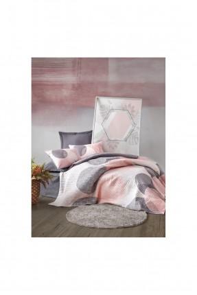 طقم غطاء سرير فردي مزين برسمة دوائر