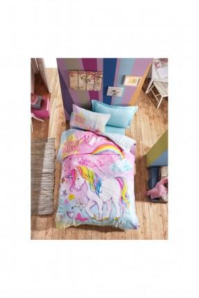 طقم غطاء سرير اطفال مزين برسمة يونيكورن