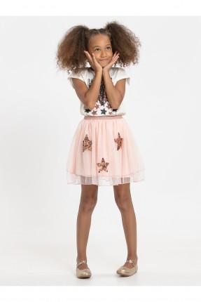 تنورة اطفال بناتي بطبعة نجوم