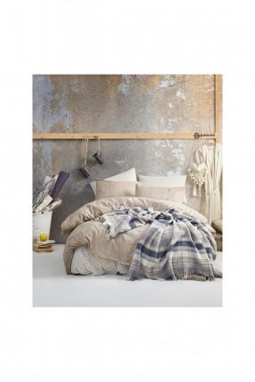 طقم بطانية سرير فردي كاروهات