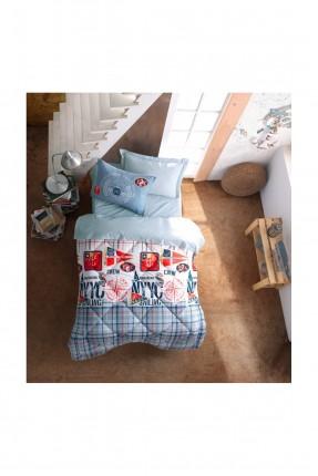طقم لحاف سرير اطفال كاروهات