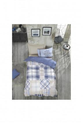 طقم غطاء سرير اطفال كاروهات