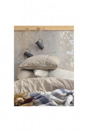 طقم بطانية سرير مزدوج كاروهات