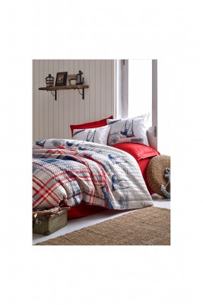 طقم غطاء سرير فردي كاروهات