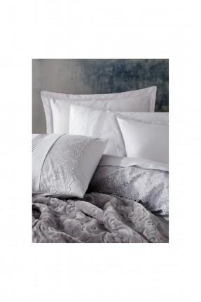 طقم بطانية سرير مزدوج مزخرف ورد