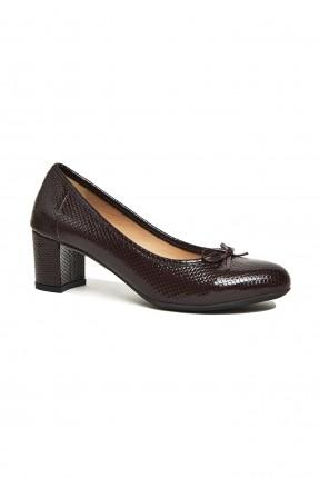 حذاء نسائي جلد ميزن ببيون