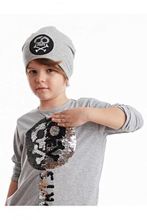 قبعة اطفال ولادي مزين برسمة
