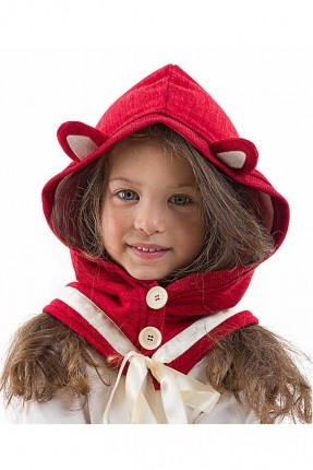 قبعة اطفال بناتي بياقة ازرار