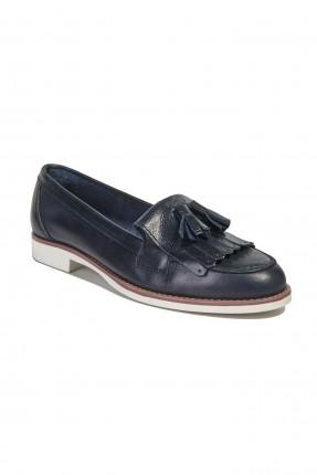 حذاء نسائي جلد مزينة بشراشيب