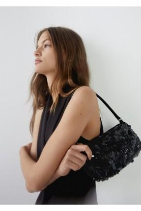 حقيبة يد نسائية مزينة بستراس