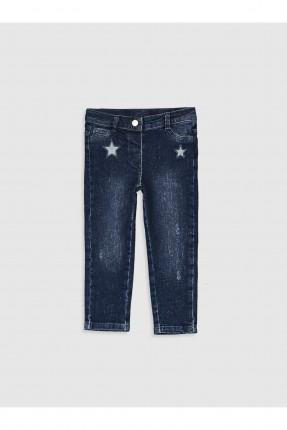 بنطال جينز بيبي بناتي بتطريز نجوم