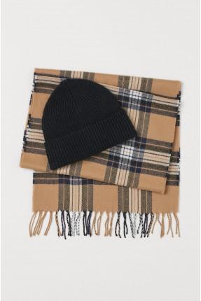 قبعة رجالية مع لفحة