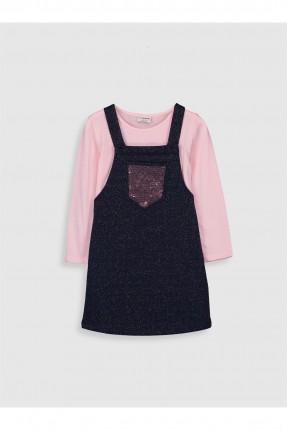 فستان اطفال بناتي بنقشة