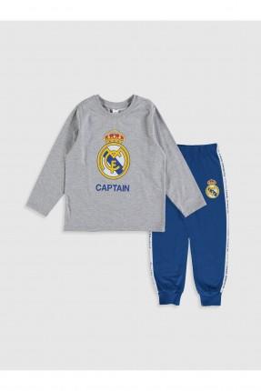 بيجاما اطفال ولادي بطبعة شعار ريال مدريد