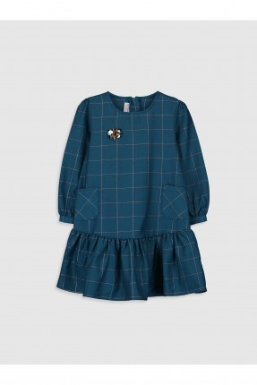 فستان اطفال بناتي بكاروهات
