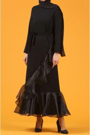 فستان رسمي طويل كشكش
