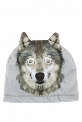 قبعة اطفال ولادية بطبعة ذئب
