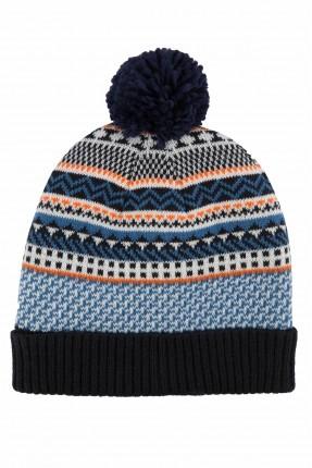 قبعة اطفال ولادية بنقشة ملونة