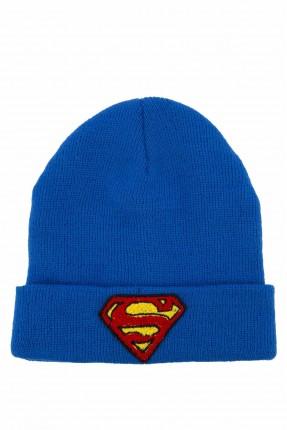 قبعة اطفال ولادية بطبعة شعار سوبر مان