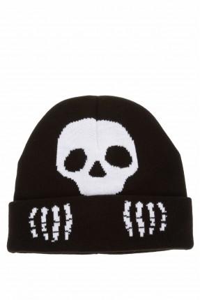 قبعة اطفال ولادية بطبعة جمجمة