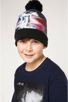 قبعة اطفال ولادية بطبعة رجل فضاء