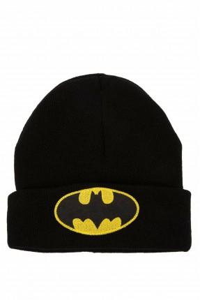 قبعة اطفال ولادية بطبعة بات مان