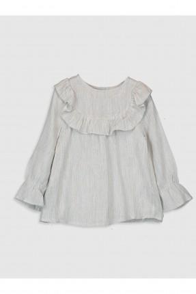 فستان بيبي بناتي بياقة كشكش