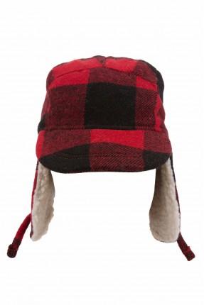 قبعة اطفال ولادية كاروهات