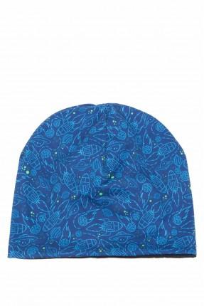 قبعة اطفال ولادية بنقشة مركبة فضائية
