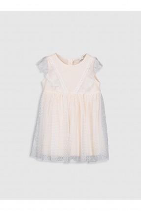 فستان بيبي بناتي مزين بدانتيل