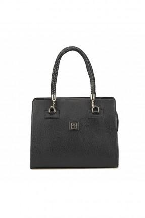 حقيبة يد نسائي مزينة بقطعة معدنية