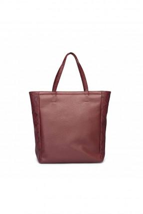 حقيبة يد نسائي بنقشة من الجانب